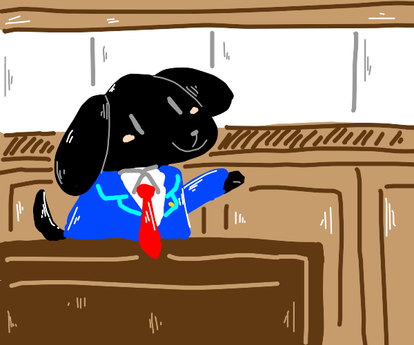 Ace Attorney but dog