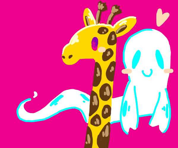 Giraffe and a ghost