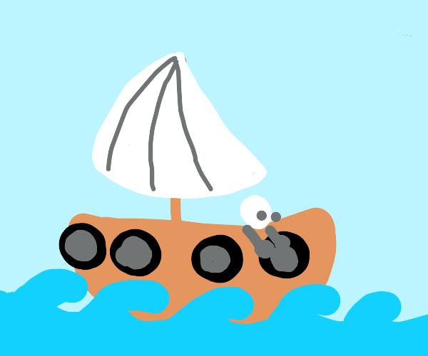 Decorating a sailboat with wheels