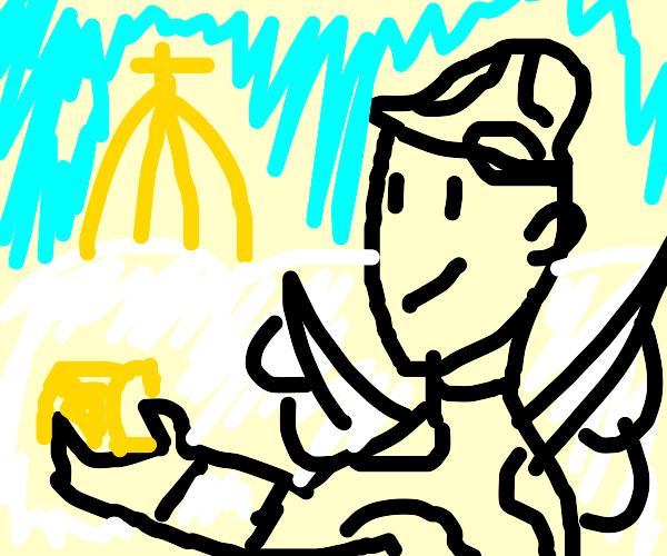 Soldier enjoying Heaven