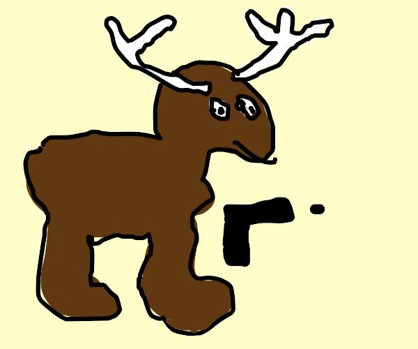 Christian Deerclops has a gun