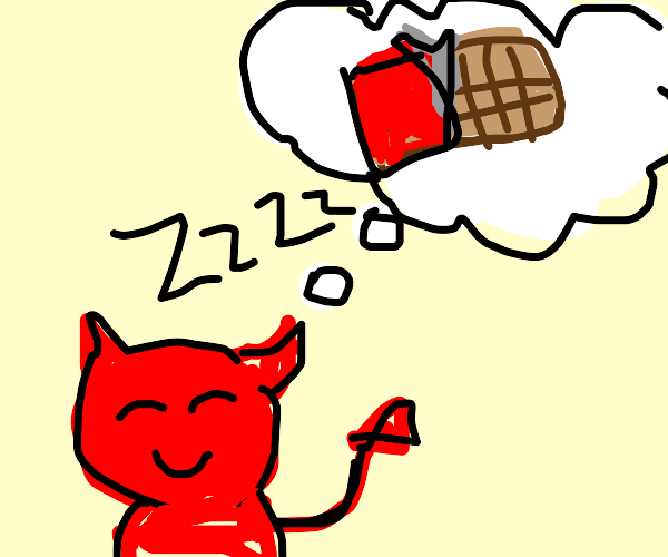 devil dreaming of chocolate