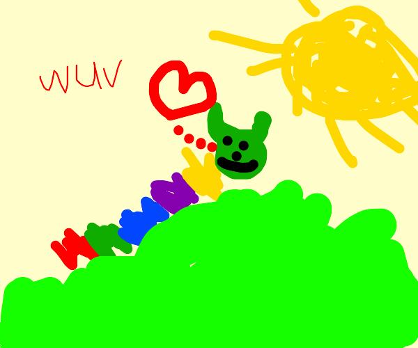 rainbow Caterpillar likes the sun