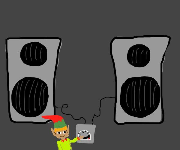Elf turns up his speakers
