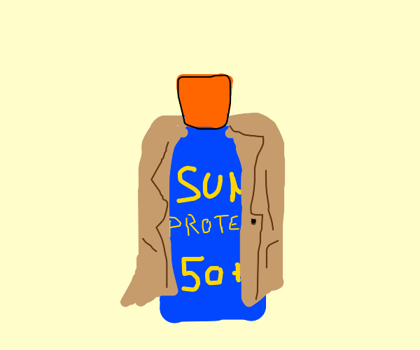 Sunscreen wearing a Coat