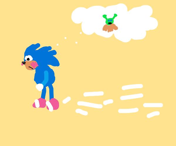 Sonic blushing.