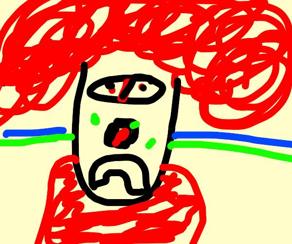 Boring clown is sad