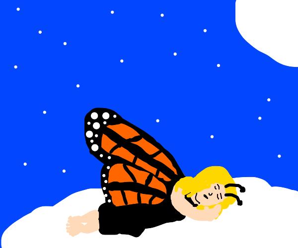 Monarch is asleep