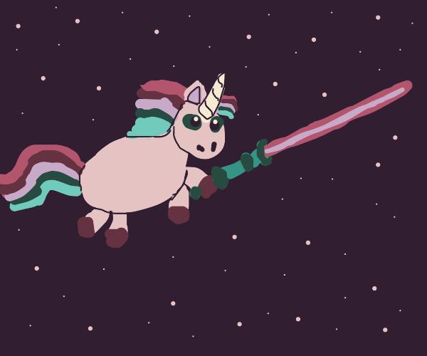 A unicorn meets star wars