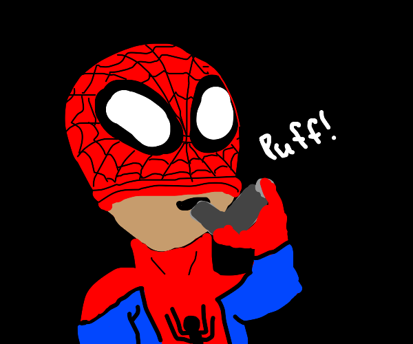 Spiderman has an asthma attack