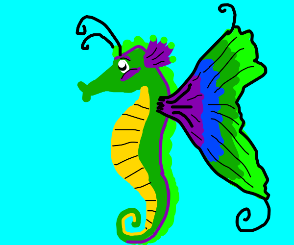 Seahorse with wings