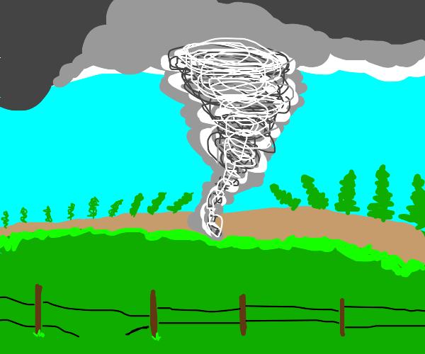 tornado drilling a hole