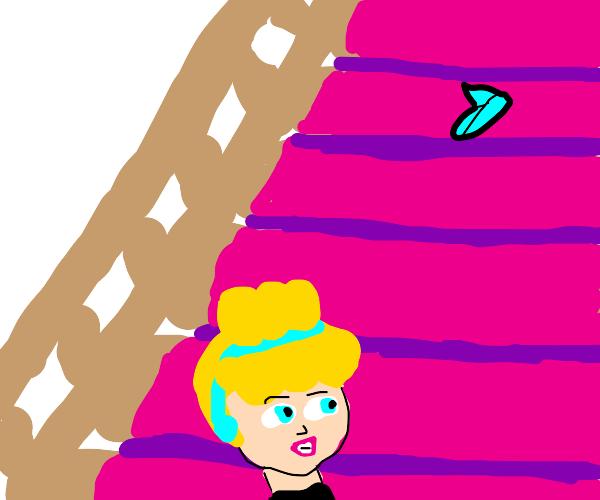 Cinderella lost her glass slipper