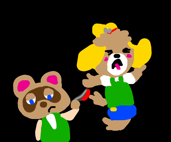 Tom nook murdered isabelle then died too