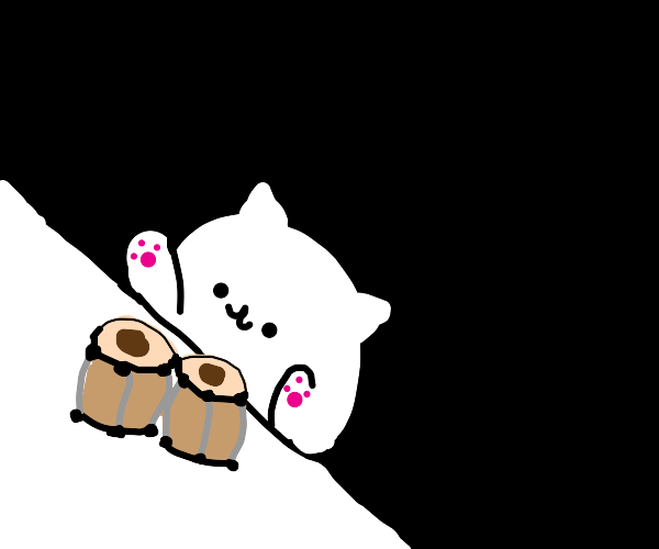 Bongo Cat playing the bongos