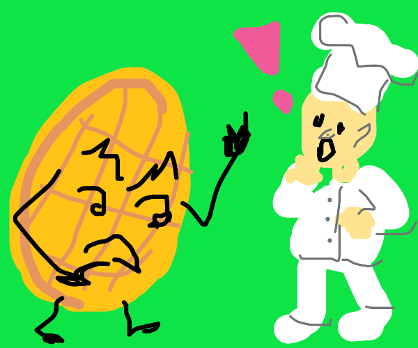 Waffle confronts chef