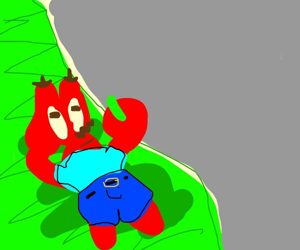 stylized mr. krabs