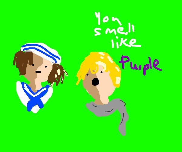 Sailor girl smells like purple