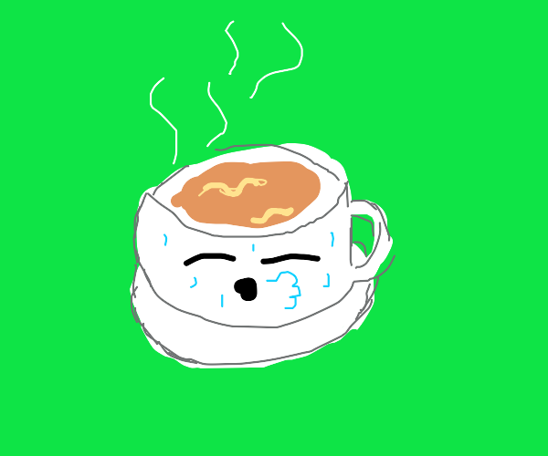 exhausted cup of coffee