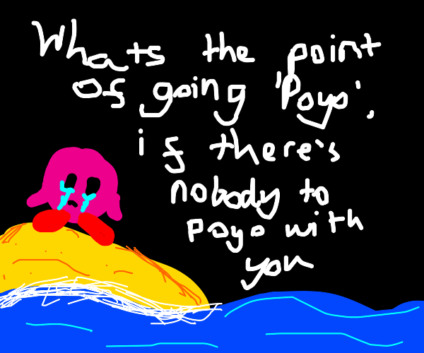 Kirby is stranded