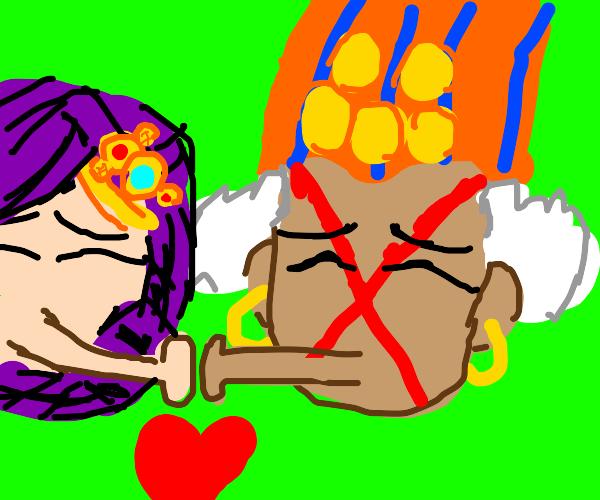 Kars and esidisi about to kiss