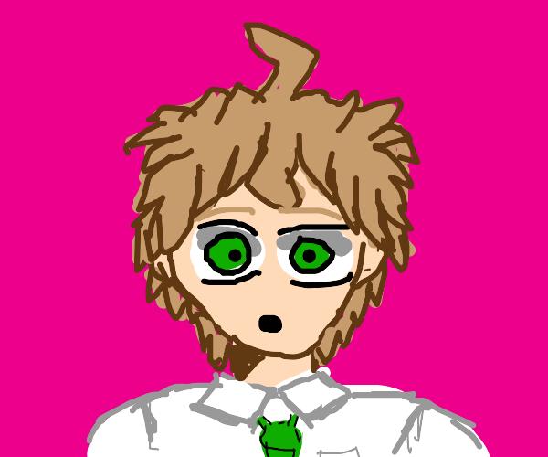Hajime Hinata is shocked by something