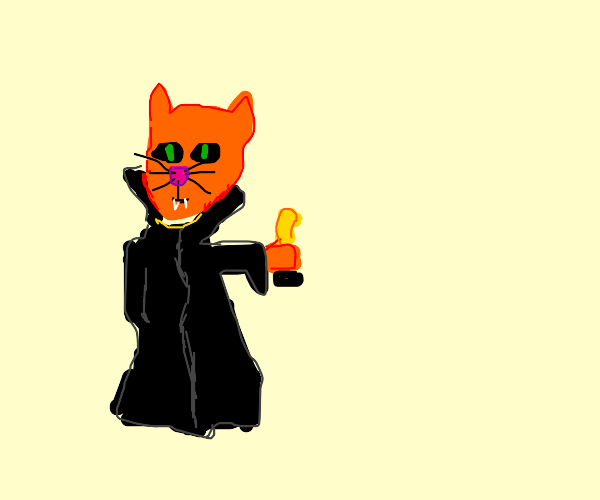 Vampire-Cat-Man wins an Oscar