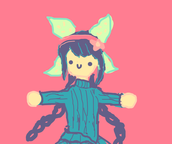 Tenko Chabashira in a sweater