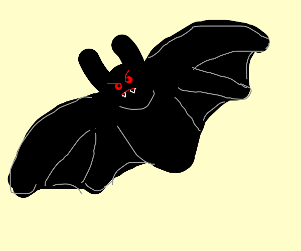 an angry vampire bat