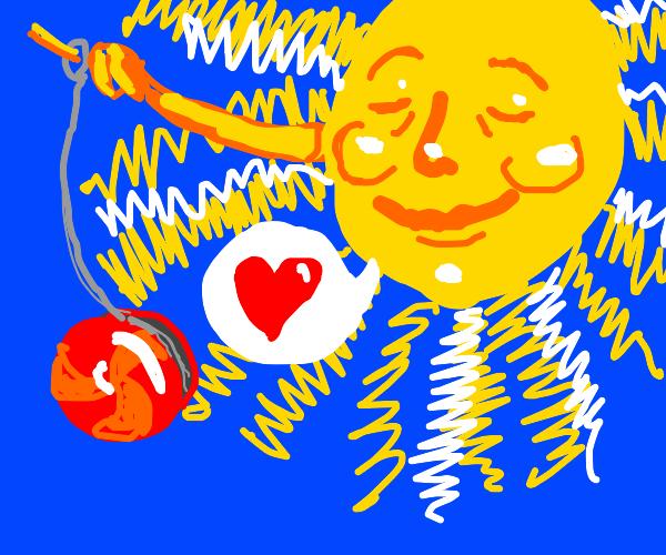 The sun loves yo-yo