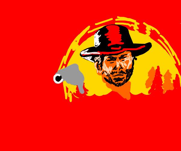 Red dead cowboy