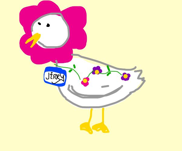 Flower duck named Jerry