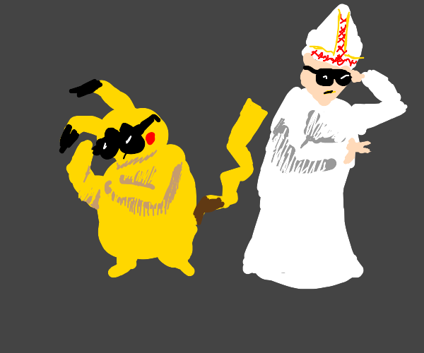 Pikachu, the Pope, OWNS it.