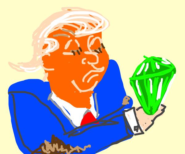 president dirty elbows observes pink gem
