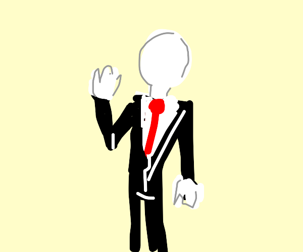 slenderman with normal sized arms