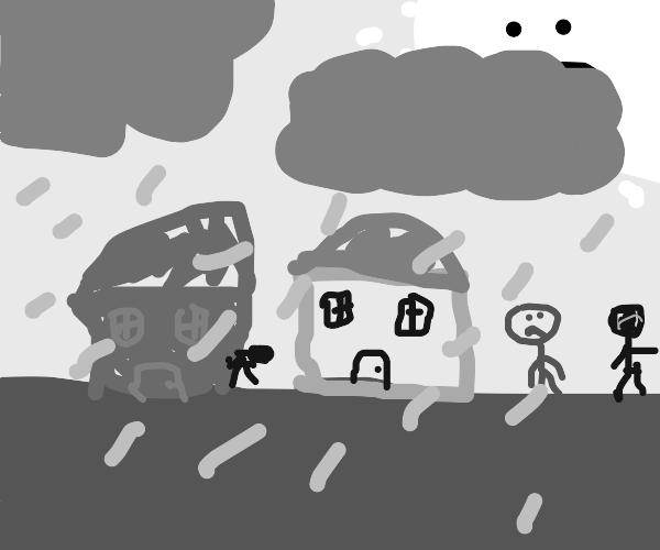 sad gray town