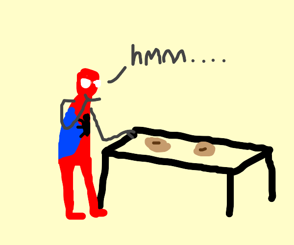 Selecting a bagel (Spiderverse)