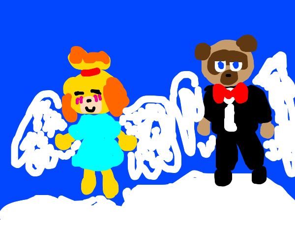 Isabelles in heaven w/tom nook