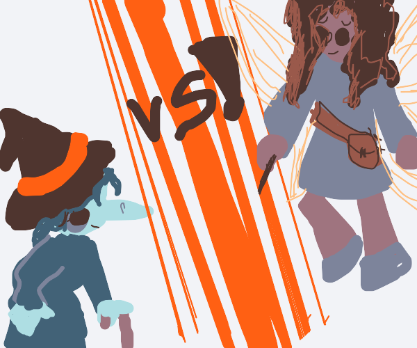 DEATH BATTLE: OLD WITCH VS FAIRY!!!