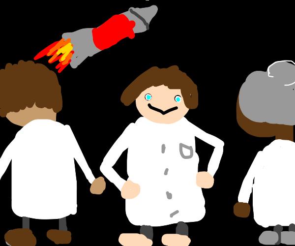 Rocket Scientist wearing Shoes