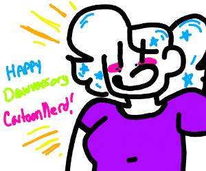 Happy drawversary cartoon nerd