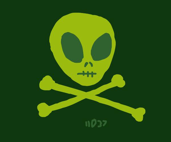 Skull and crossbones, but its alien :o