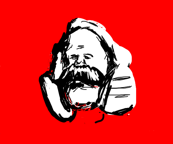 Karl Marx as a Kirby character