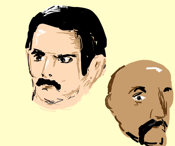 Freddie Mercury with generic Indian man face