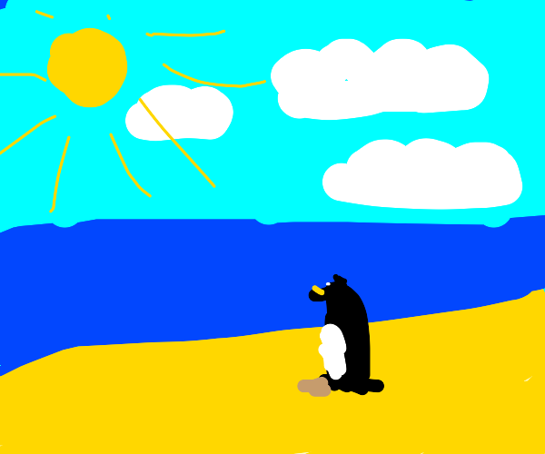 a penguin that has not adapted to the cold