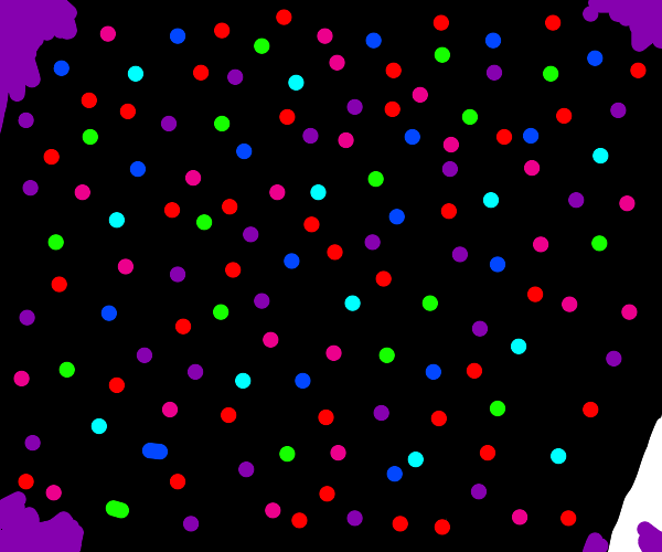 Some black void with small colorful dots