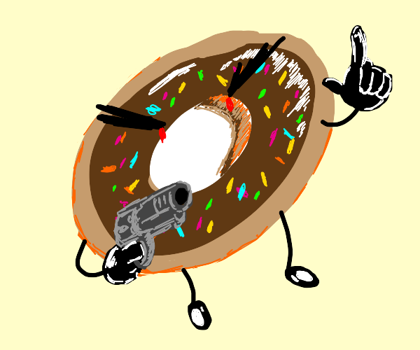 Angry doughnut