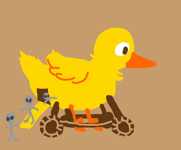 Trojan duck has aliens inside
