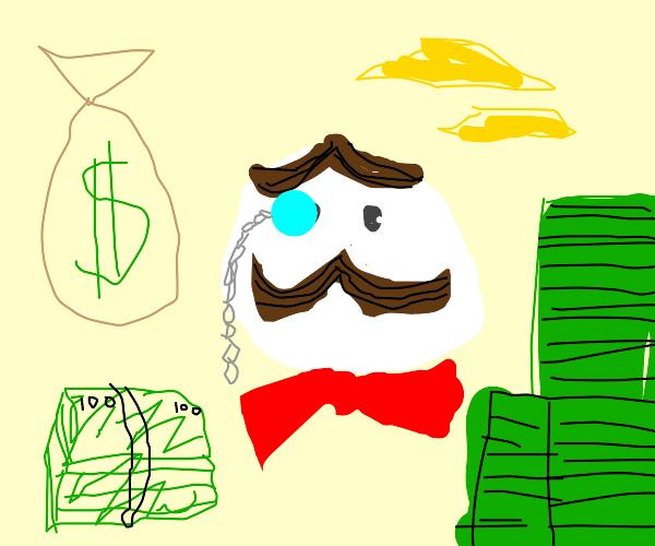 rich pringles man
