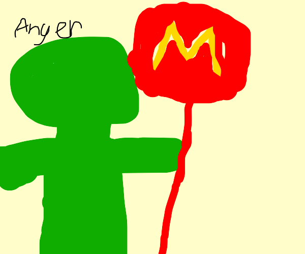The Grinch protests McDonald's